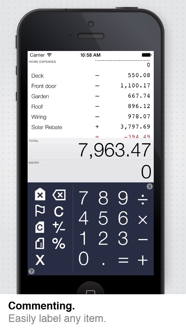 Screenshot do app Digits, the calculator for humans
