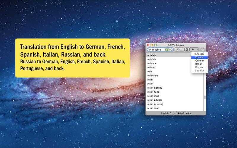 Screenshot do app Lingvo Dictionary