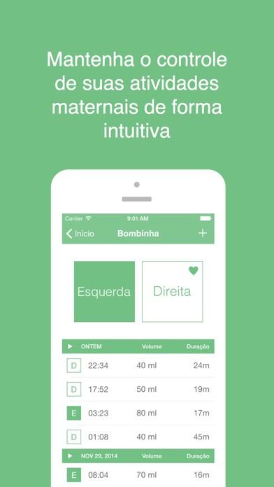 Screenshot do app Mamae - você e seu bebê