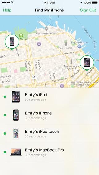 Mein iPhone suchen Screenshot
