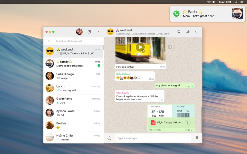 WhatsApp Desktop Screenshot