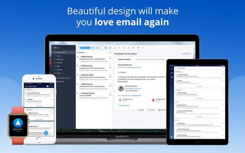 Spark - Love your email again Screenshot