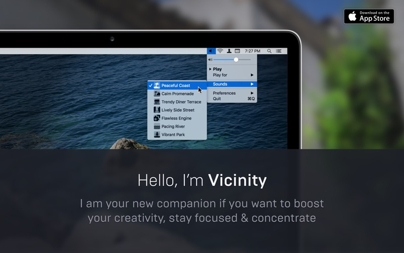 Vicinity Mac 1.1.2 破解版 - 环境噪音模拟