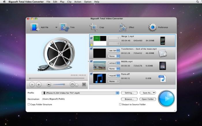 Bigasoft Total Video Converter Screenshot 01 139h9rn