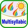 Multisyllabic with words, phrases and sentences for speech therapy and special need education