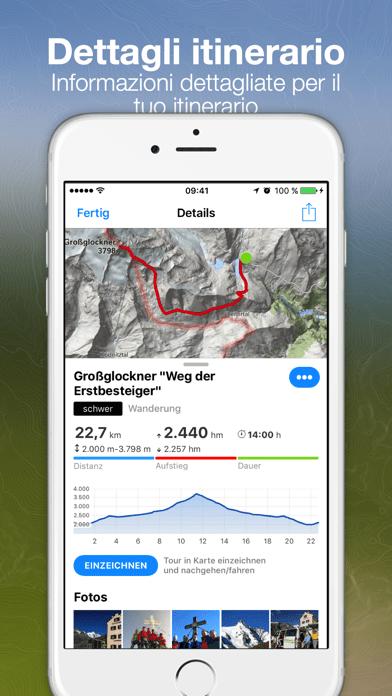 bergfex escursioni tracking iPhone