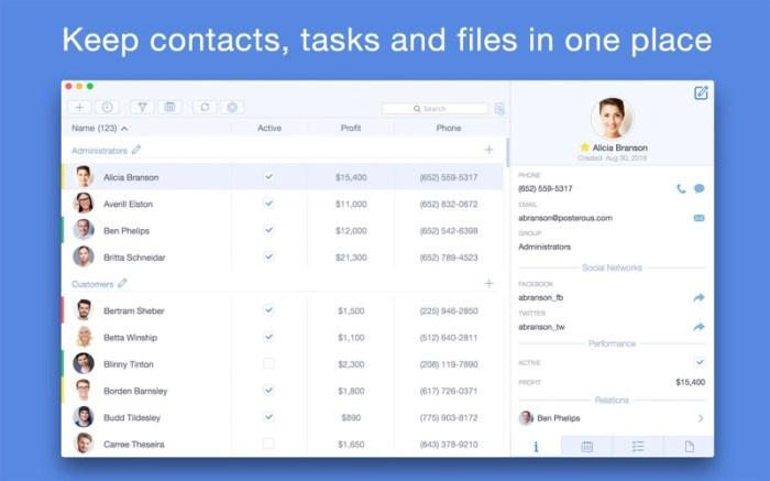 Top Contacts - Contact Manager Screenshot 01 133brun