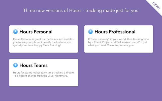 Hours Time Tracking Screenshot