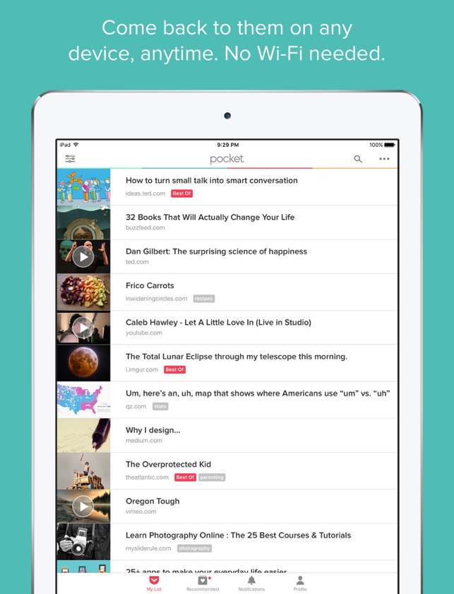 Pocket: Save Stories for Later Screenshot