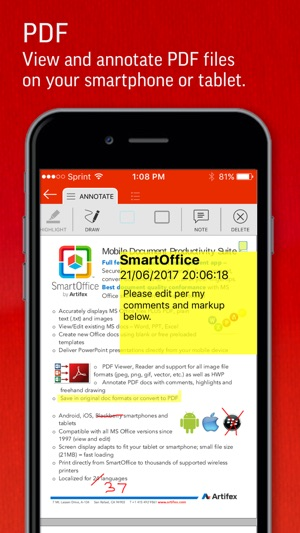 SmartOffice by Artifex Screenshot
