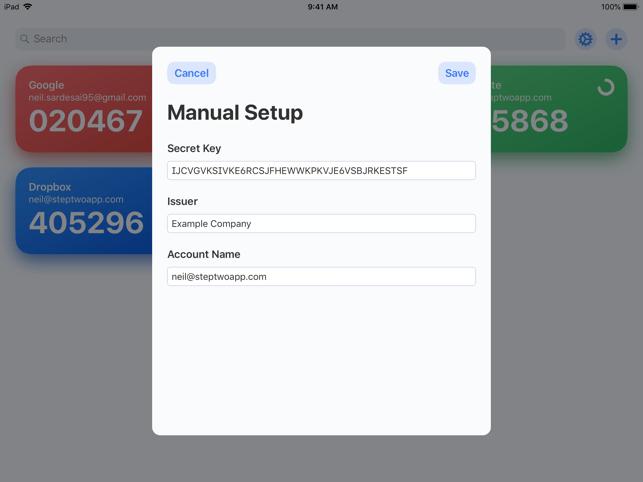 Step Two Screenshot