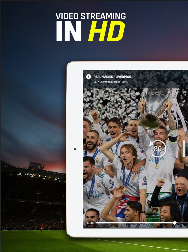 DAZN Sport Live Stream Screenshot