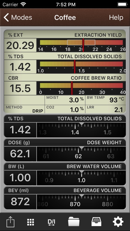 VST CoffeeTools for iPhone