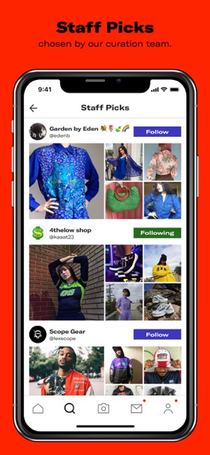 Depop - Discover. Clothing. Screenshot