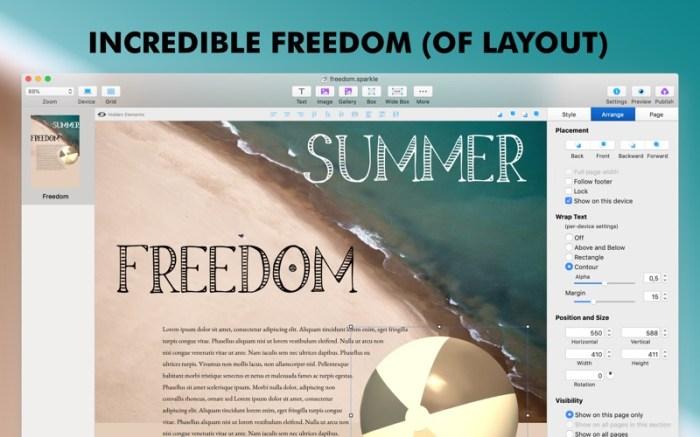 Sparkle, Visual Web Design Screenshot 05 ikzefpn