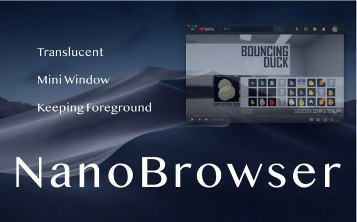 NanoBrowser : mini web browser Screenshot 01 138243n