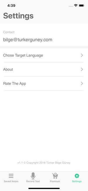 Speech To Text Screenshot