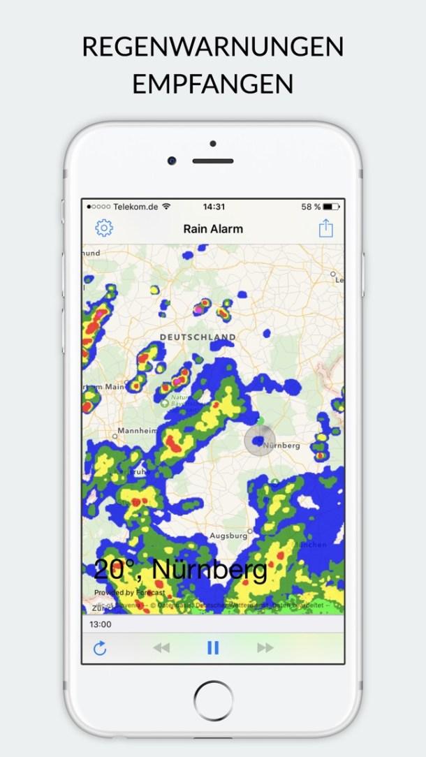 Rain Alarm XT - Regenwarnung Screenshot