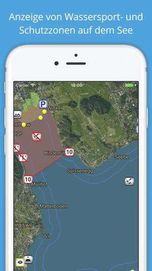 Vierwaldstättersee Seekarte Screenshot
