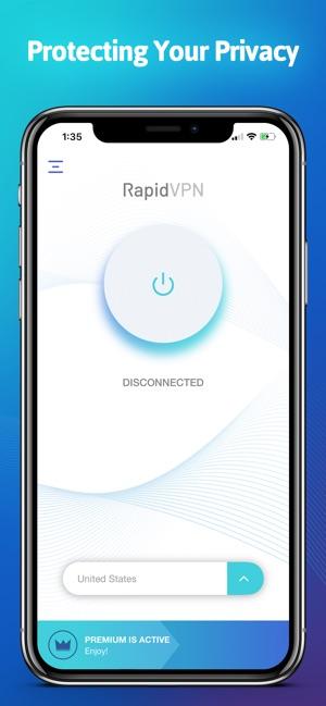 Rapid VPN - Fast Private VPN Screenshot