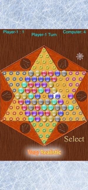 Realistic Chinese Checkers Screenshot