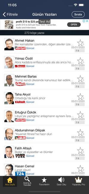 Köşe Yazarları - Yazaroku.Com Screenshot