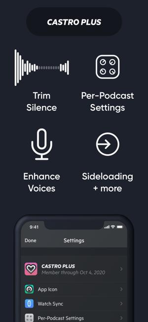 Castro Podcast Player Screenshot