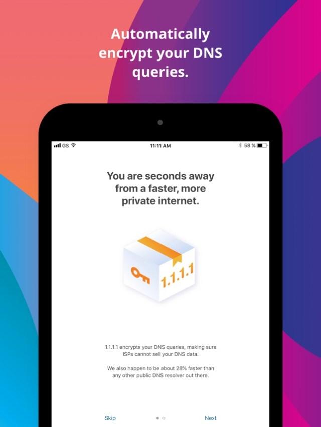 1.1.1.1: Faster Internet Screenshot