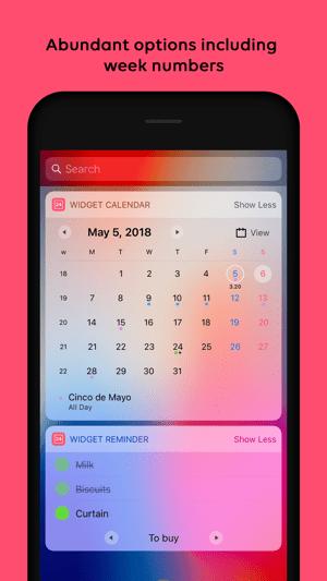 Widget Calendar Screenshot