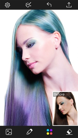 Hair Color Changer - Styles Salon & Recolor Booth Screenshot