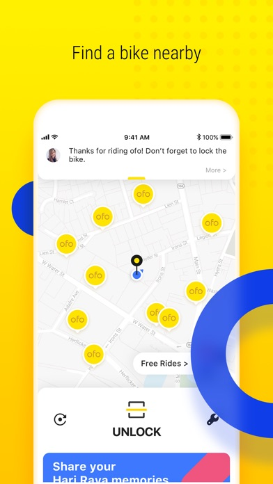ofo - Ride Sharing Platform Screenshot