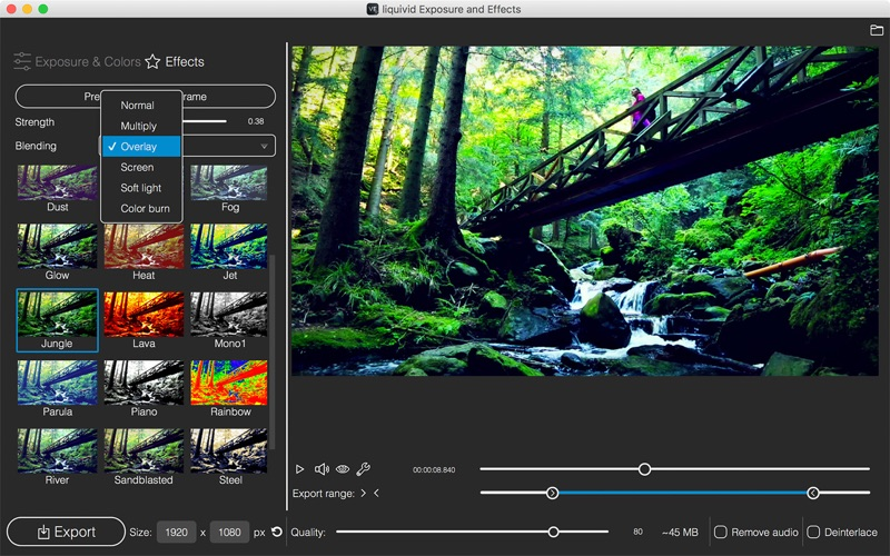 liquivid Video Exposure and Effects for Mac 1.0.6 激活版 - 视频增强工具