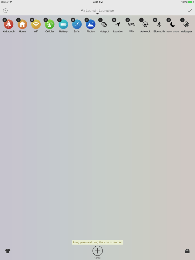AirLaunch - Launcher Widget Screenshot