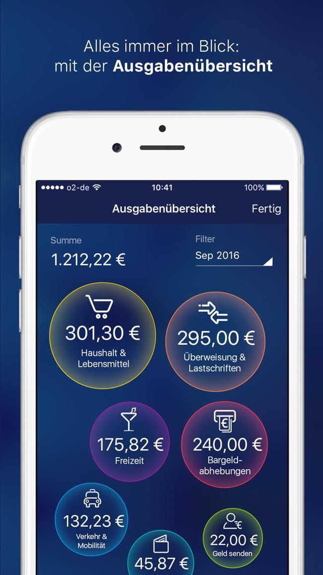 o2 Banking Screenshot