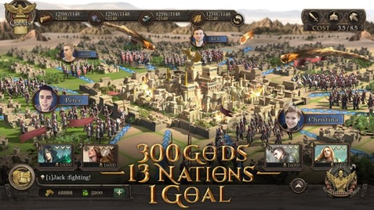 Immortal Conquest War Strategy on the App Store Screenshots
