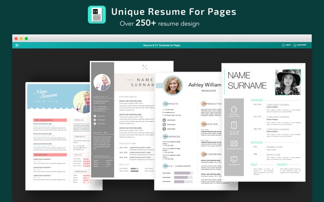 Apple pages, microsoft word or ms word for mac are all you should need (you can download a free trial if you. Resume Cv Templates For Pages On The Mac App Store