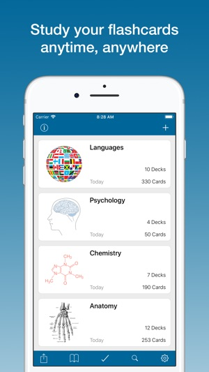 Flashcards & Quizzes - Studium Screenshot