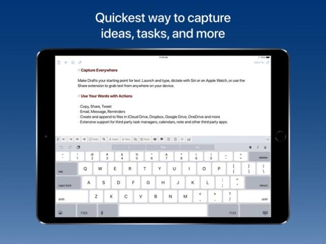 Drafts 5: Capture ‣‣ Act Screenshot