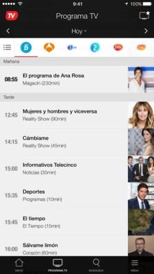392x696bb - Super Guía TV: Toda la programación TV desde tu iPhone