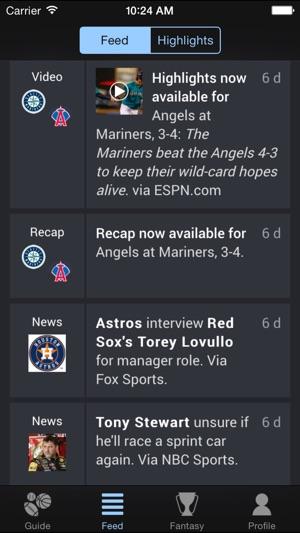 Thuuz Sports Screenshot
