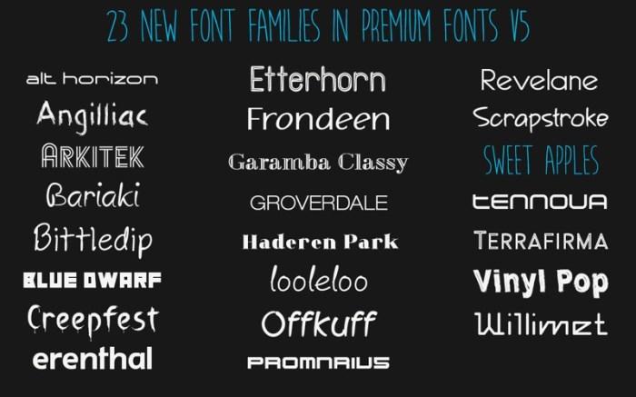 Premium Fonts - Commercial Use OpenType Fonts Screenshot 03 57rh42n