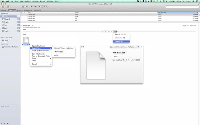 Winmail.dat Viewer Pro Edition Screenshot