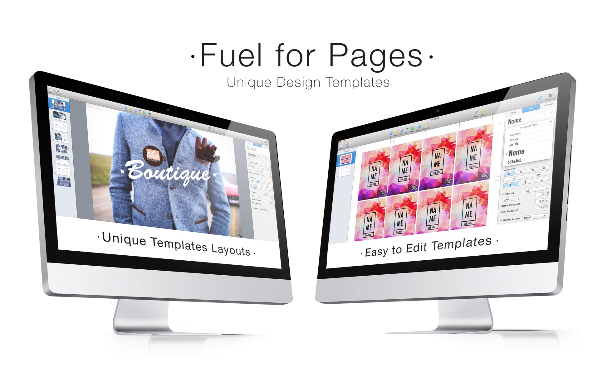 Fuel for Pages Mac 破解版 精美的Pages模板合集