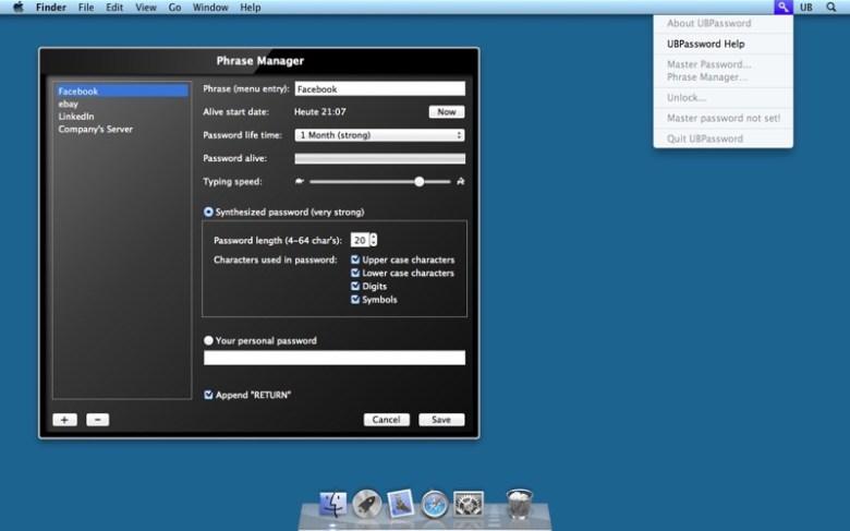 UBPassword Screenshot