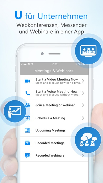 U - Meetings & Webinars Screenshot
