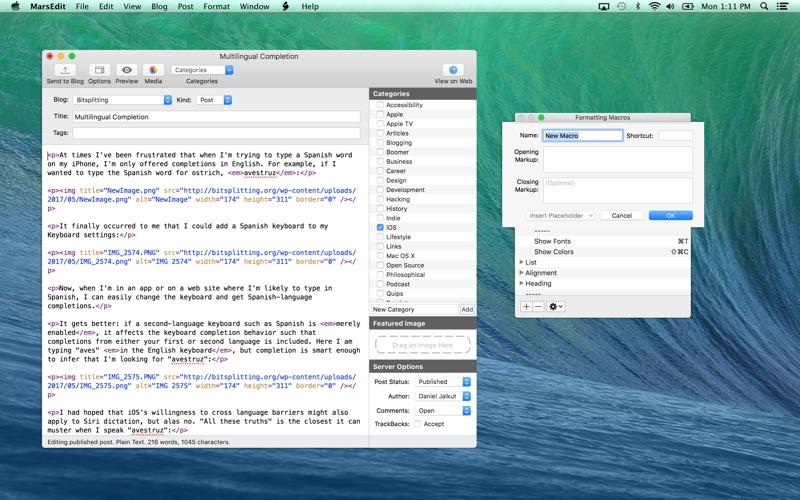 MarsEdit 4.2.1 Mac 破解版 - 优秀强大的博客编写客户端