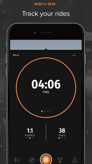 Rever Motorrad - GPS Routentracker & Navigation Screenshot
