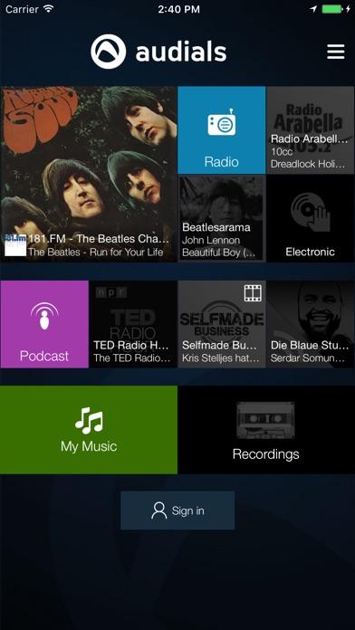Audials Radio Screenshot