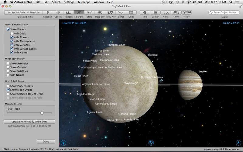 SkySafari 4 Plus Screenshot
