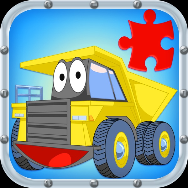 Trucks JigSaw Puzzle Free - Animated Jigsaw Puzzles for Kids with Truck and Tractor Cartoons!
